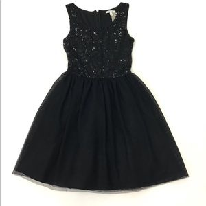 Delia's Black Dress W Sequined Torso Size 0